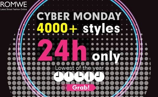 Shopping with Glenz: Romwe Cyber Monday sale!!!