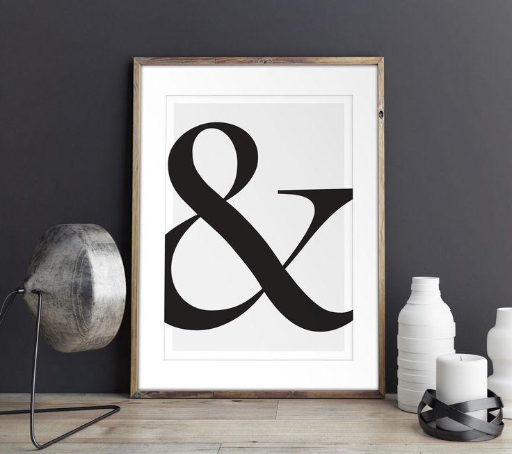 Scandinavian poster design - Ampersand.  Eco-friendly premium poster.