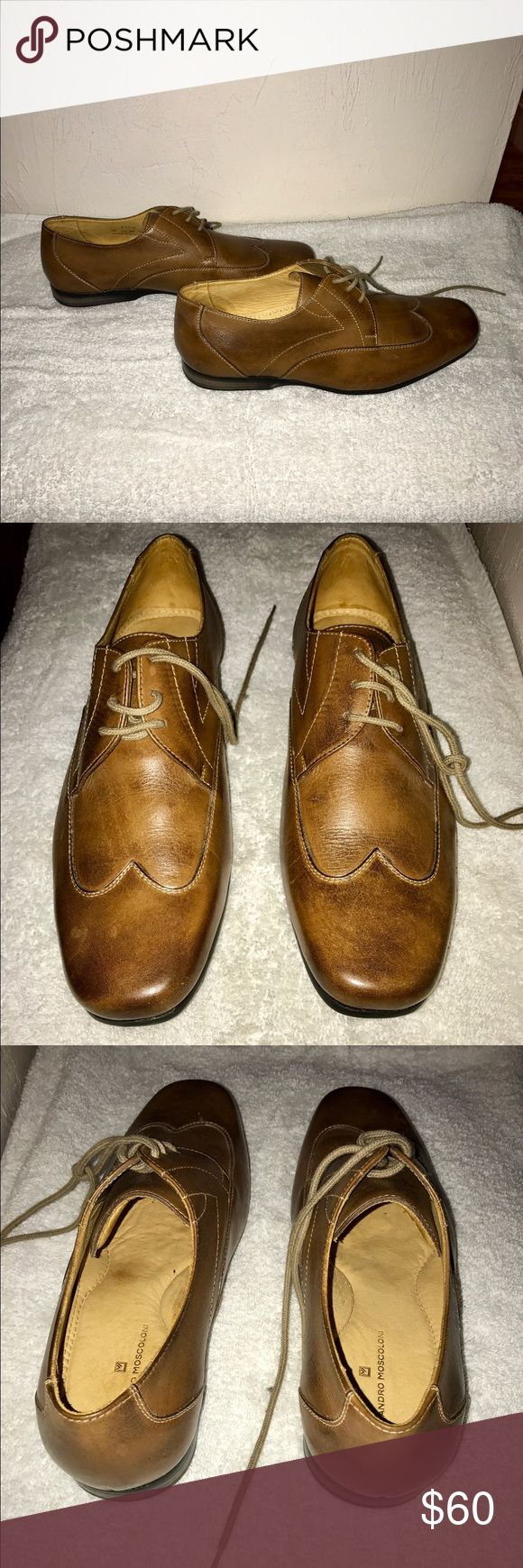 BRAND NEW, NEVER WORN!! SANDRO MOSCOLONI TAN BRAND NEW, NEVER WORN!!! SANDRO MOSCOLONI TAN LEATHER SIZE 9. All offers welcome! Sandro Shoes Oxfords & Derbys