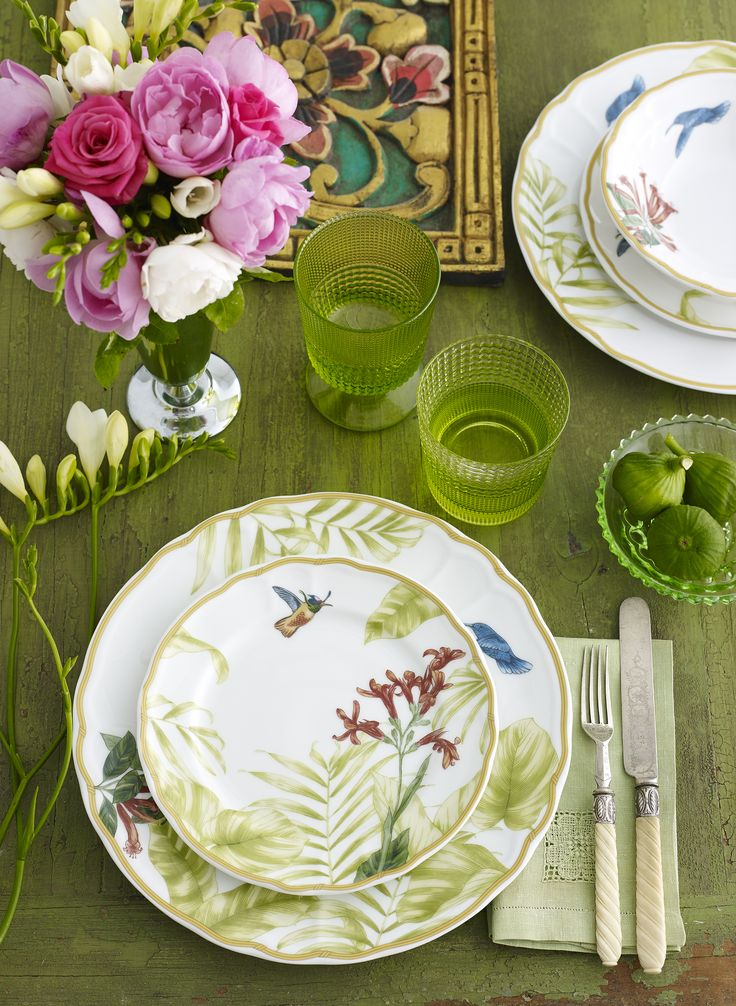Hummingbird Meadow a delicate a contemporary dinnerware with a vintage feel. I love this, Photography by Brandee Meier www.brandeemeier.com.au
