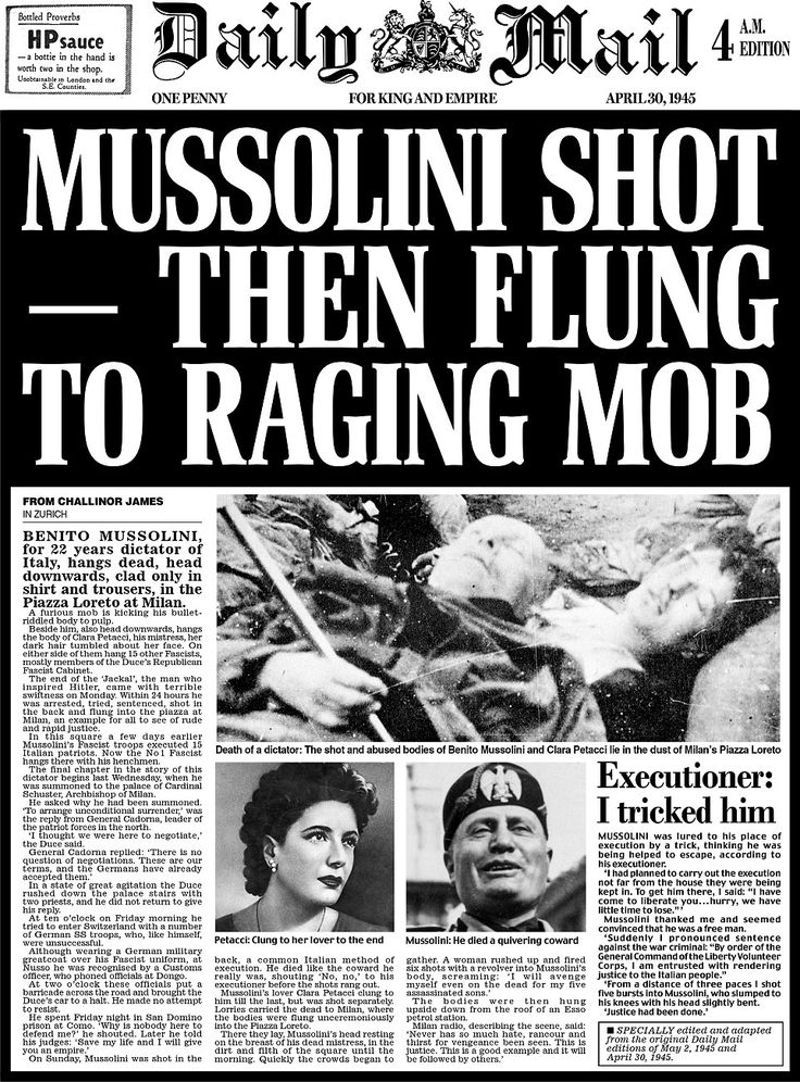 Daily Mail pages from day Adolf Hitler died 70 years ago this week | Extra! Extra! | Pinterest ...