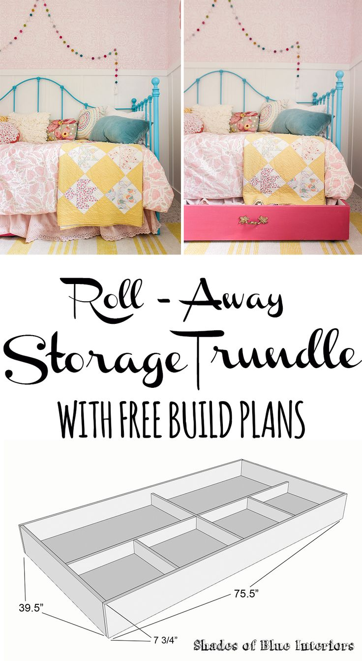 Roll-Away Storage Trundle with FREE Build Plans!