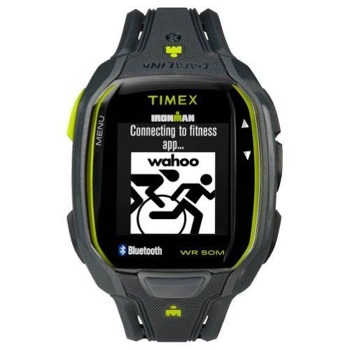 Timex Men's TW5K84500 Ironman Run x50+ Charcoal/Lime Resin