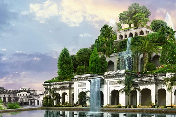 This is an interesting read on the actual Hanging Gardens: http://www.history.com/news/hanging-gardens-existed-but-not-in-babylon