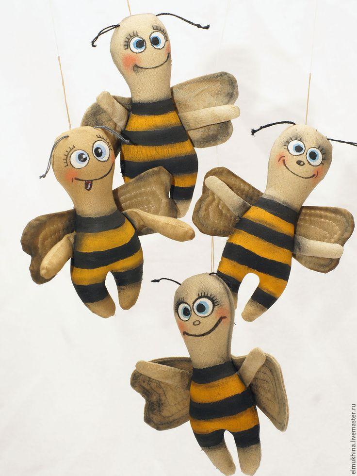Купить Пчела текстильная. Недорогой сувенир. - пчела, пчелка, пчелы, пчелки, Пчелка Майя