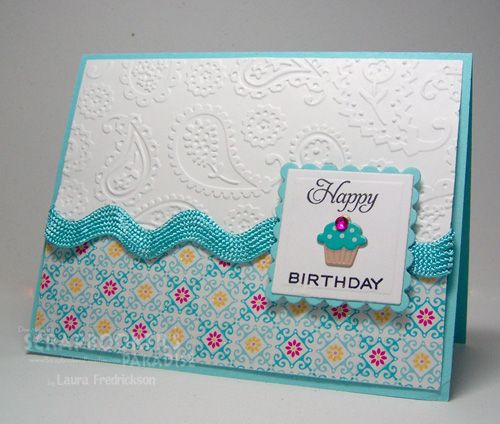cuttlebug card ideas | Scrapnextras: Simple Cupcakes