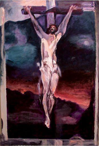 110118 acrylic Meditation on the Holy Cross by John Warren Oakes