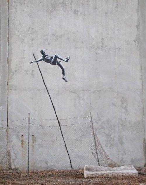 BANKSY – Pole vault to freedom!