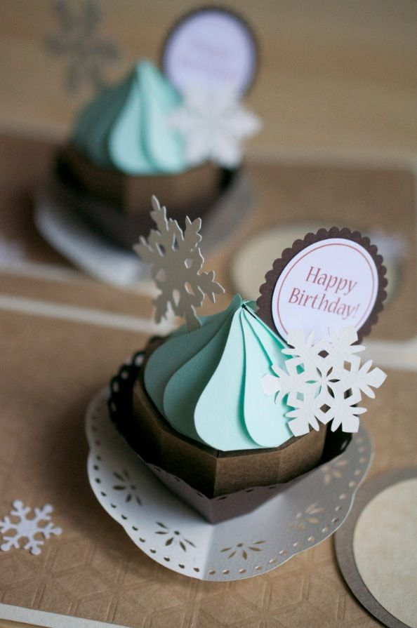 Piped frosting pop up card.