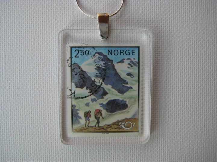 Norwegian mountains and hikers.