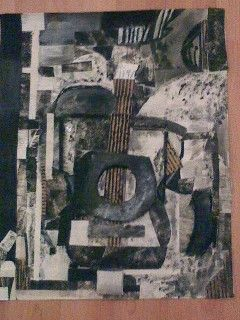 guitar/ collage