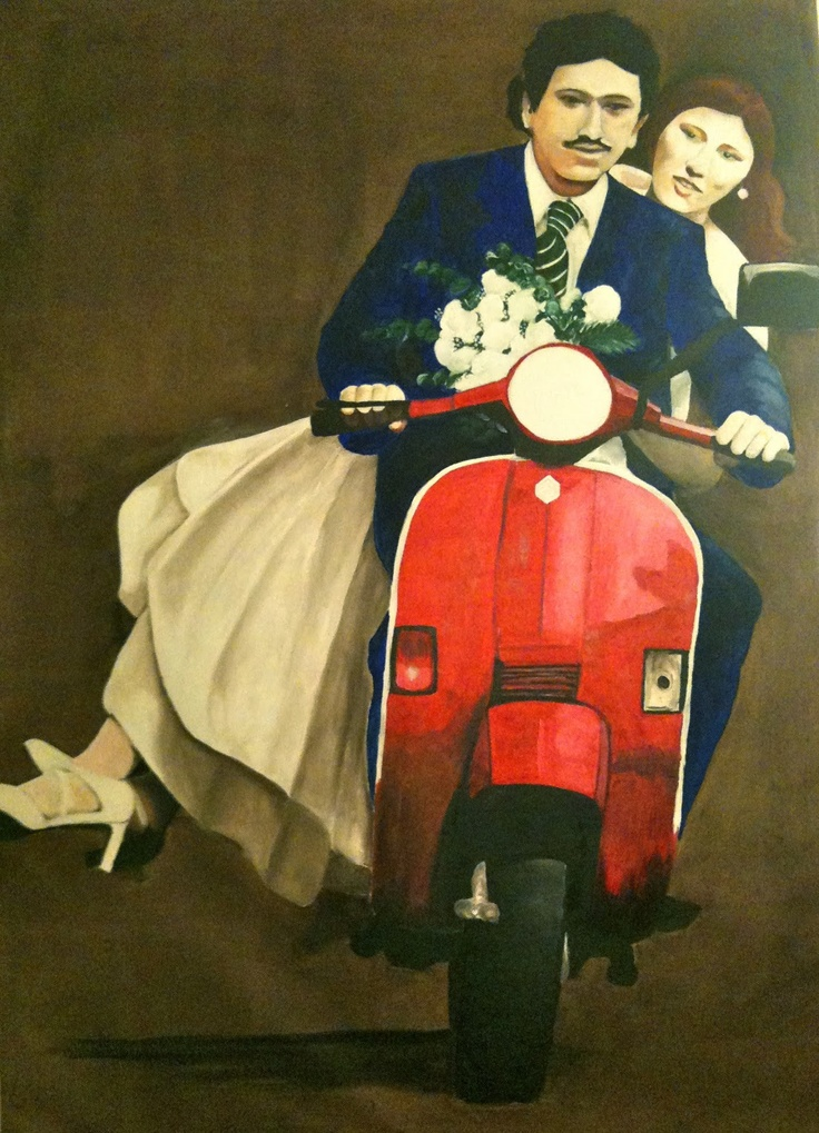 VIVA GLI SPOSI - WEDDING oil on canvas 160x110 2011