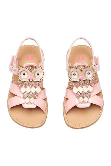 Sandals with appliqué detail