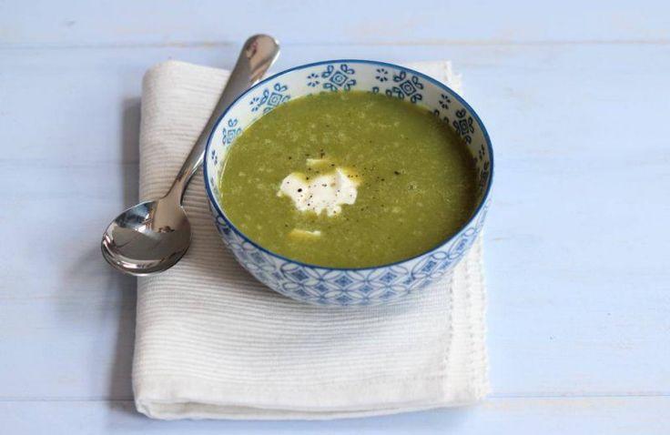 Snelle maaltijd courgette soep