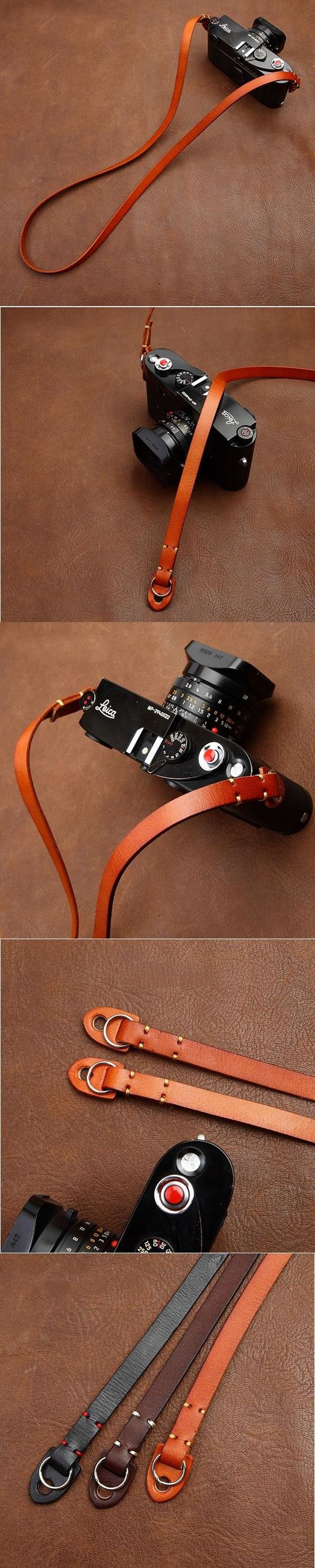Handmade Leather Camera Strap Brown 3214 by i-cam