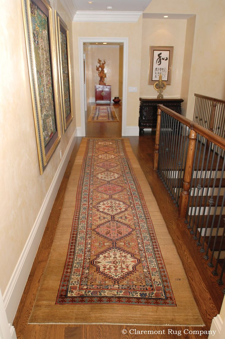 antique persian serab carpet runners are especially suited for long or narrow hallways http