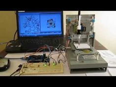 How to make Mini CNC plotter machine at home using Arduino, L293 Motor shield & old DVD drive - YouTube