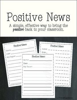 Several years ago, I found myself in a rut with a difficult class. It seemed I was overly focused on the negative and rarely gave enough praise for the positive. I needed a way to change the climate of the classroom and involve the kids while doing so.I created this short form that is easy to complete.