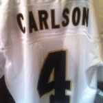 Feeling a little depressed that football season is more than half over - but excited my @neworleanssaints are doing great! Karen Carlson:  Official Saints Fan Jersey