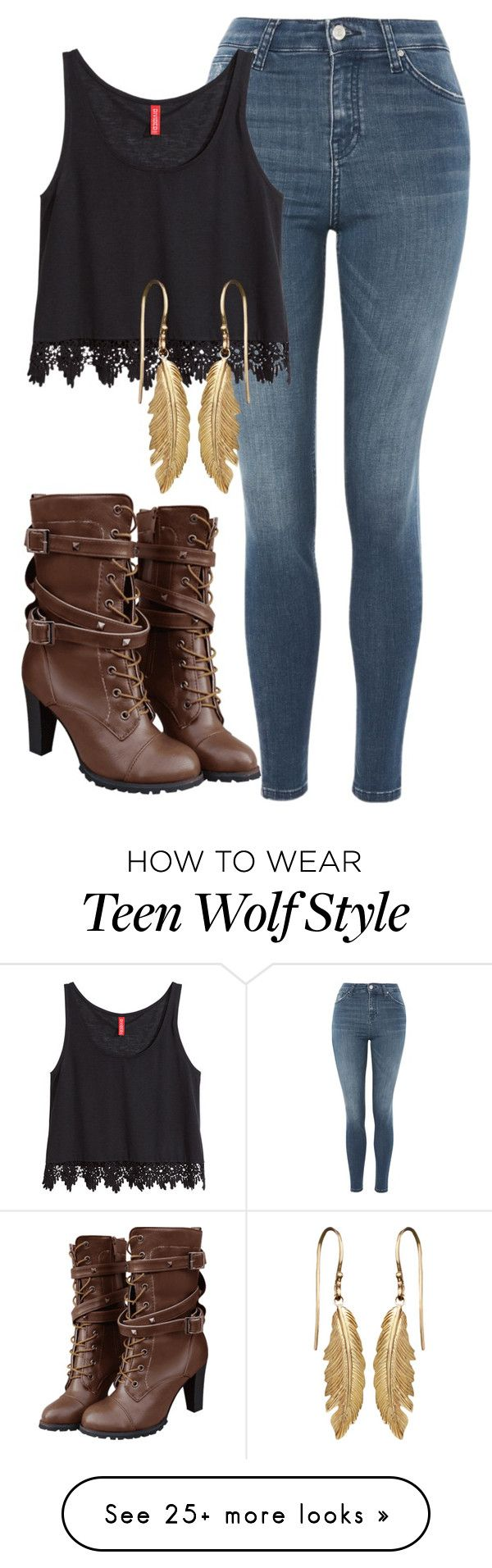 """Hayden Inspired Outfit - Teen Wolf"" by clawsandclothes on Polyvore featuring Topshop and H&M"