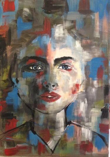 "Saatchi Art Artist Leyla ÖZLÜOĞLU; Painting, ""woman portrait"" #art"
