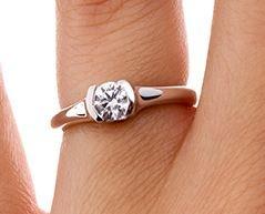 Petite Semi-Bezel Ring