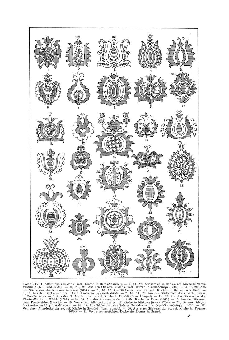 Free Clip Art and Digital Collage Sheet - Magyar Ornament | Magic of Color