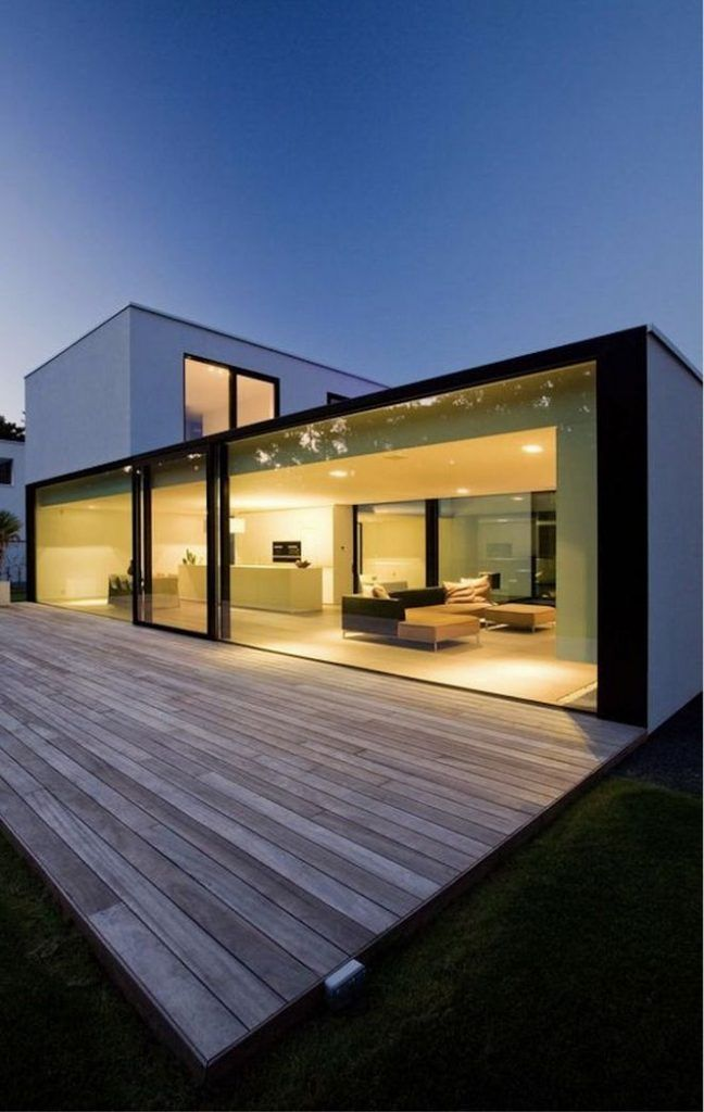 25 Glass Wall Design Exposed Modern House Design Glass Wall Design Minimalist Architecture