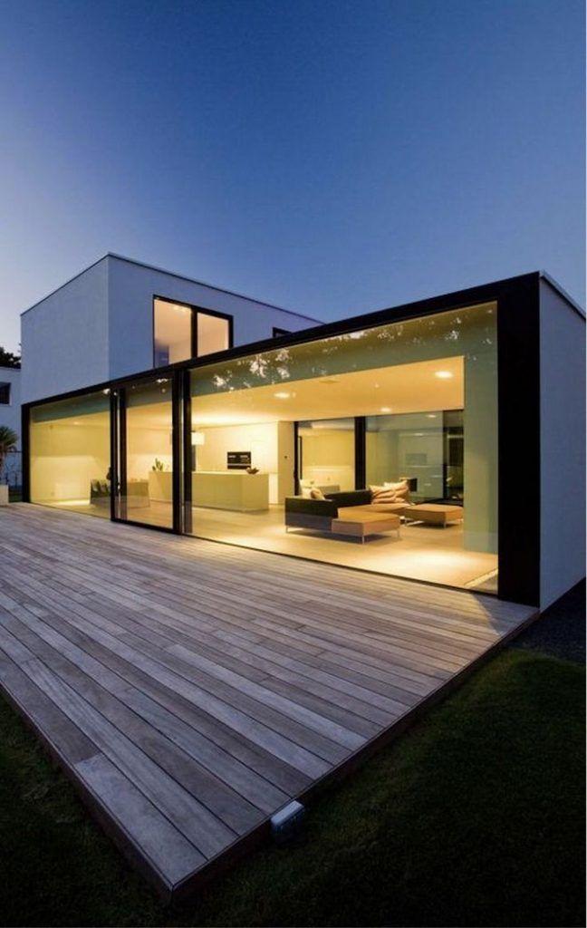 25 Glass Wall Design Exposed Modern House Design Minimalist