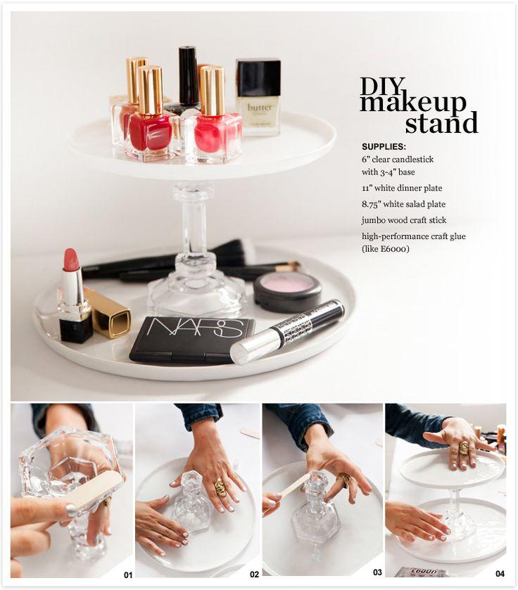 DIY makeup stand
