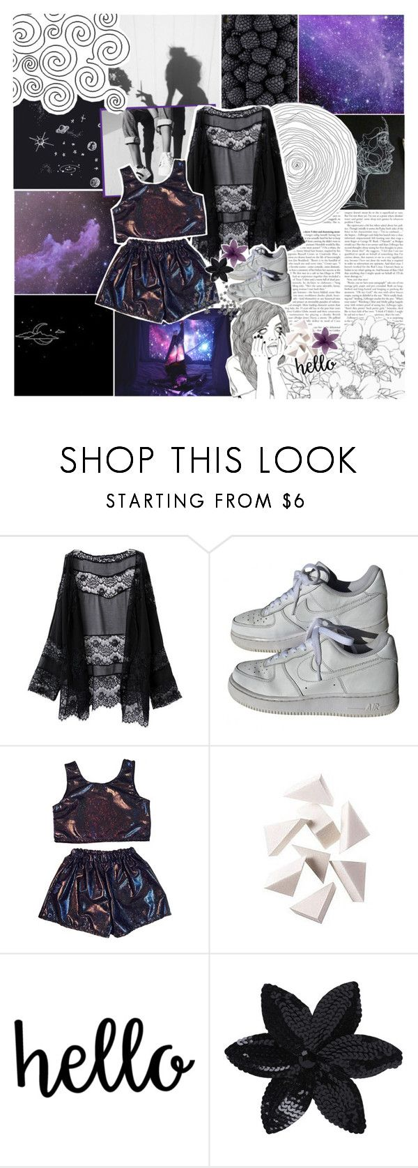 """728: my god, you look good today"" by lili-is-a-koala ❤ liked on Polyvore featuring NIKE, CO, Bobbi Brown Cosmetics and ASOS"