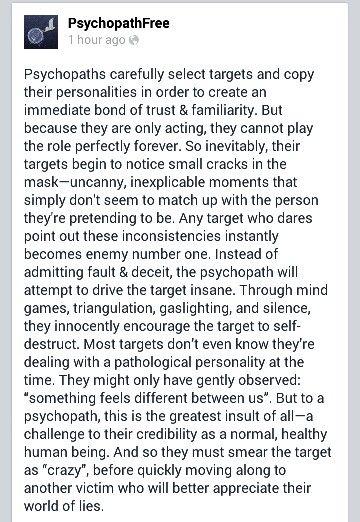 Dating a narcissistic sociopath