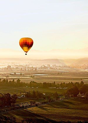 Napa Valley Balloons trips take off before sunrise, when the wind is calm.