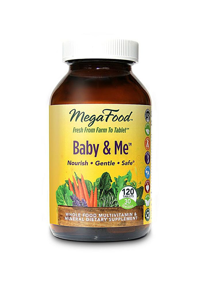 MegaFood Baby and Me™ Whole Food Multivitamin & Mineral -- 120 Tablets