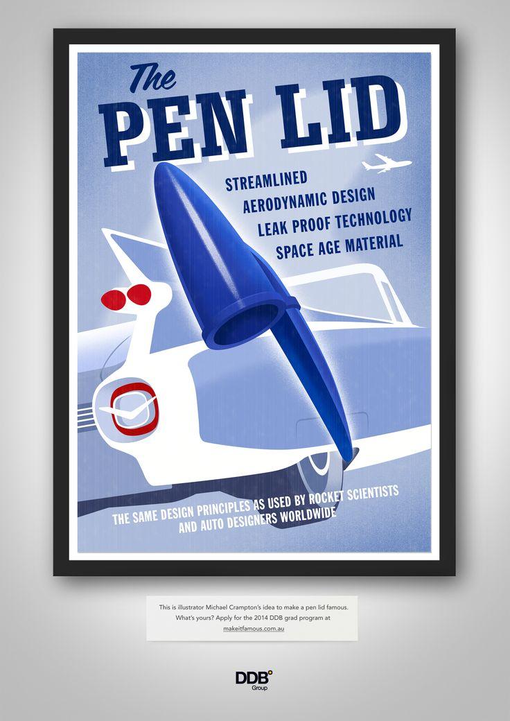 Pen Lid by Michael Crampton  Michael Crampton - illustrationroom.com.au/artist/michael-crampton