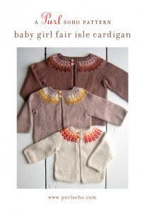 purl soho | products | item | baby girl fair isle cardigan (purl soho) http://www.purlsoho.com/purl/products/item/8071-Purl-Soho-Baby-Girl-Fair-Isle-Cardigan