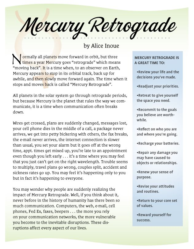 Mercury isn't all bad! Find out what it means and how we can adapt, and contact a tarot advisor to help you navigate during these turbulent times!