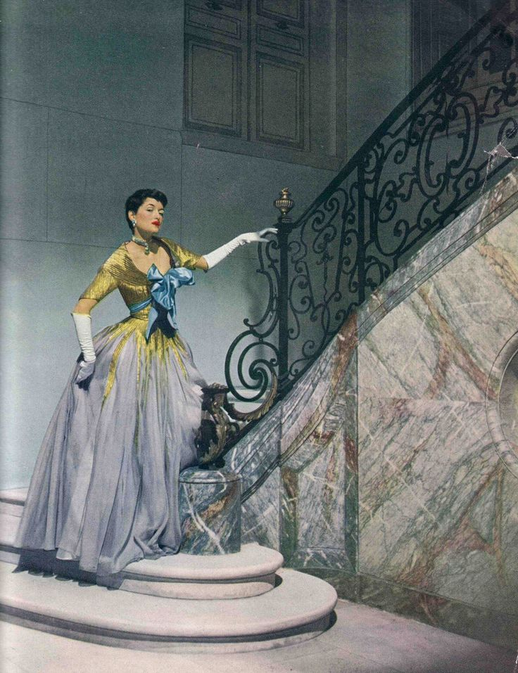 Maxime de la Falaise wearing a Charles James gown in a Modess ad, Photo by Cecil Beaton 1950 | Flickr - Photo Sharing!