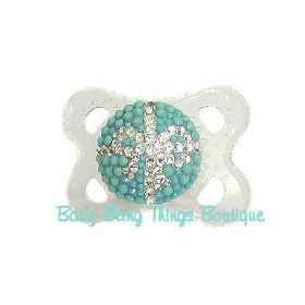 Bow Bling Pacifier -- Baby Bling Things Boutique Online Store