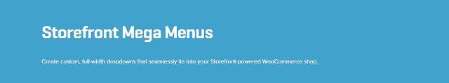 WooCommerce plugins: WooCommerce Storefront Mega Menus 1.3.0 Extension ...