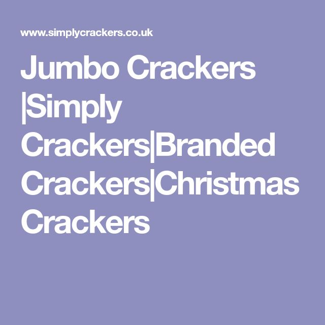 Jumbo Crackers |Simply Crackers|Branded Crackers|Christmas Crackers