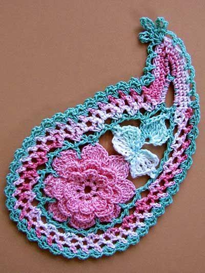 The 21 Best Crochet Paisley Images On Pinterest Crochet Paisley