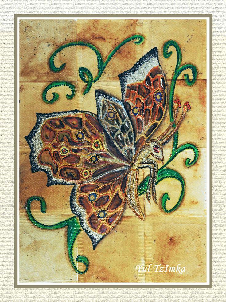 Recycled Tea-bag Art – A Vintage Butterfly Brooch - tutorial. Art Maker Wiz