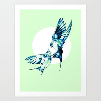Birds Art Print by Nuam - $17.68  ********  #Bird, #Vector, #Swallow, #Spring, #Nature, #Birds, #Animal, #Animals, #Illustration, #Love, #Family, #Trust, #Feed, #Food, #Hipster, #Swallows, #Care, #Fly, #Spring, #Wings, #TwoBirds, #Romantic, #Bohemian, #Fly, #Flying #FlyingBird, #FlyingBirds #Decorative #homedecor