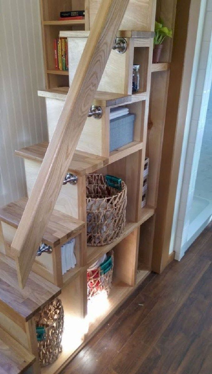 Best Cool Loft Stair Design Ideas For Space Saving 7 Tiny House Loft Tiny House Family Tiny House Stairs