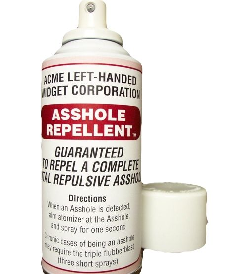 asshole repellent gag gift