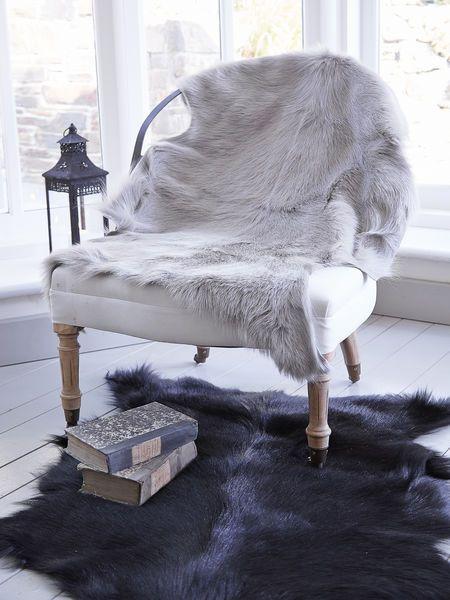 goatskin rugs nordic house