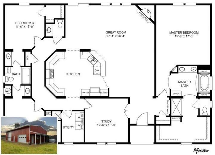 Stunning Images Of Exterior Metal Building Homes Metalbuildingsexterior House Floor Plans Barndominium Floor Plans New House Plans