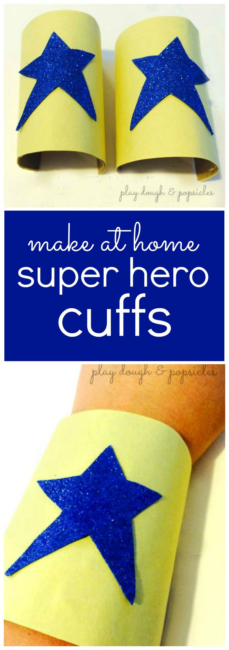 How To Make Easy Super Hero Cuffs for Kids - DIY Dress Up Clothes & Accessories. Easy Homemade Halloween Costume for Kids.