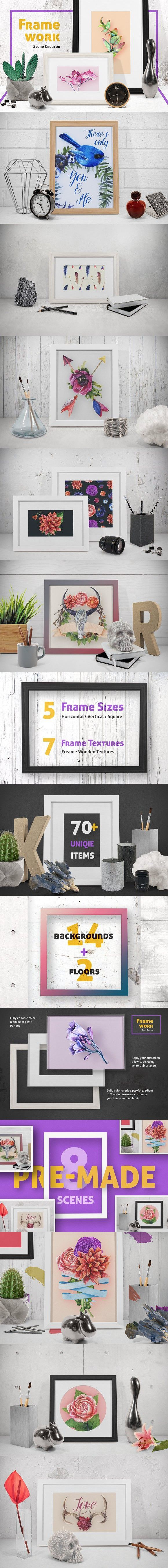 75+ best PSD Scene Generator Mockup images on Pinterest | Miniatures ...